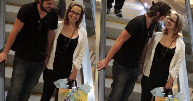 Paloma Duarte e Bruno Ferrari fazem compras na BBtrends Baby Boutique